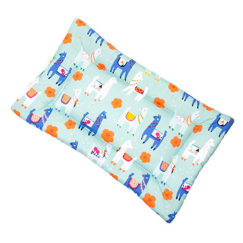 Llama Printed Cotton Fabric - Quilted Crate Pad