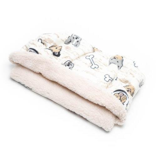Dog Faces Fleece Fabric Pocket Bed