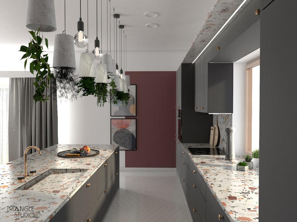 Lastryko w nowoczesnej kuchni.