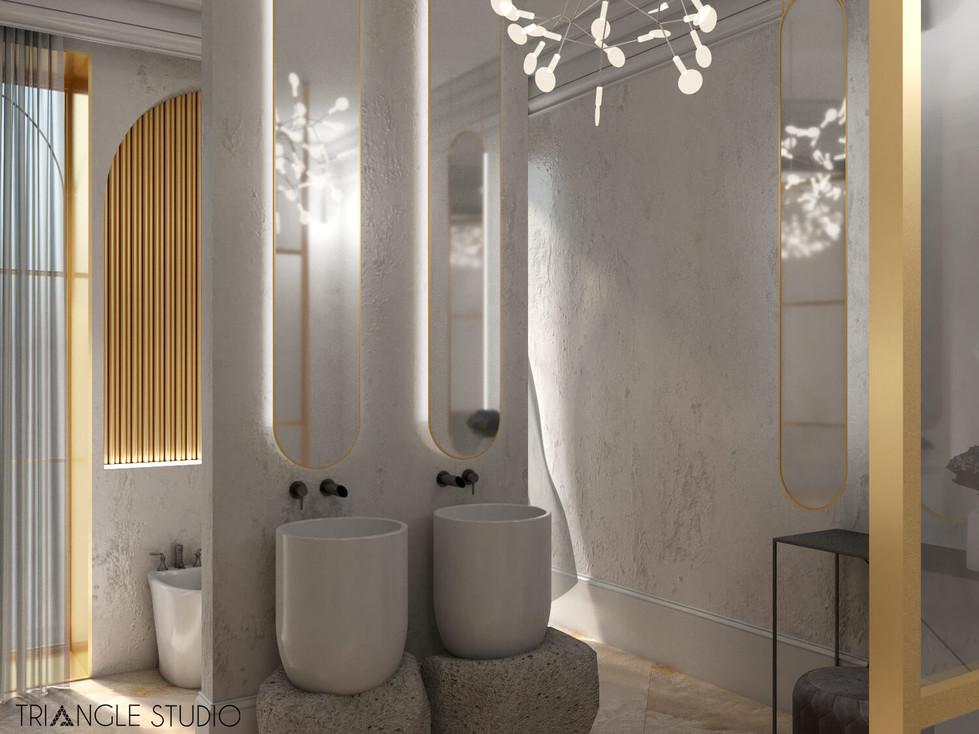 Inspiracja - Ciepły elegancki pokój kąpielowy - 2