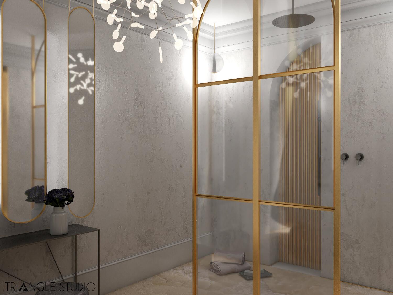 Inspiracja - Ciepły elegancki pokój kąpielowy - 1