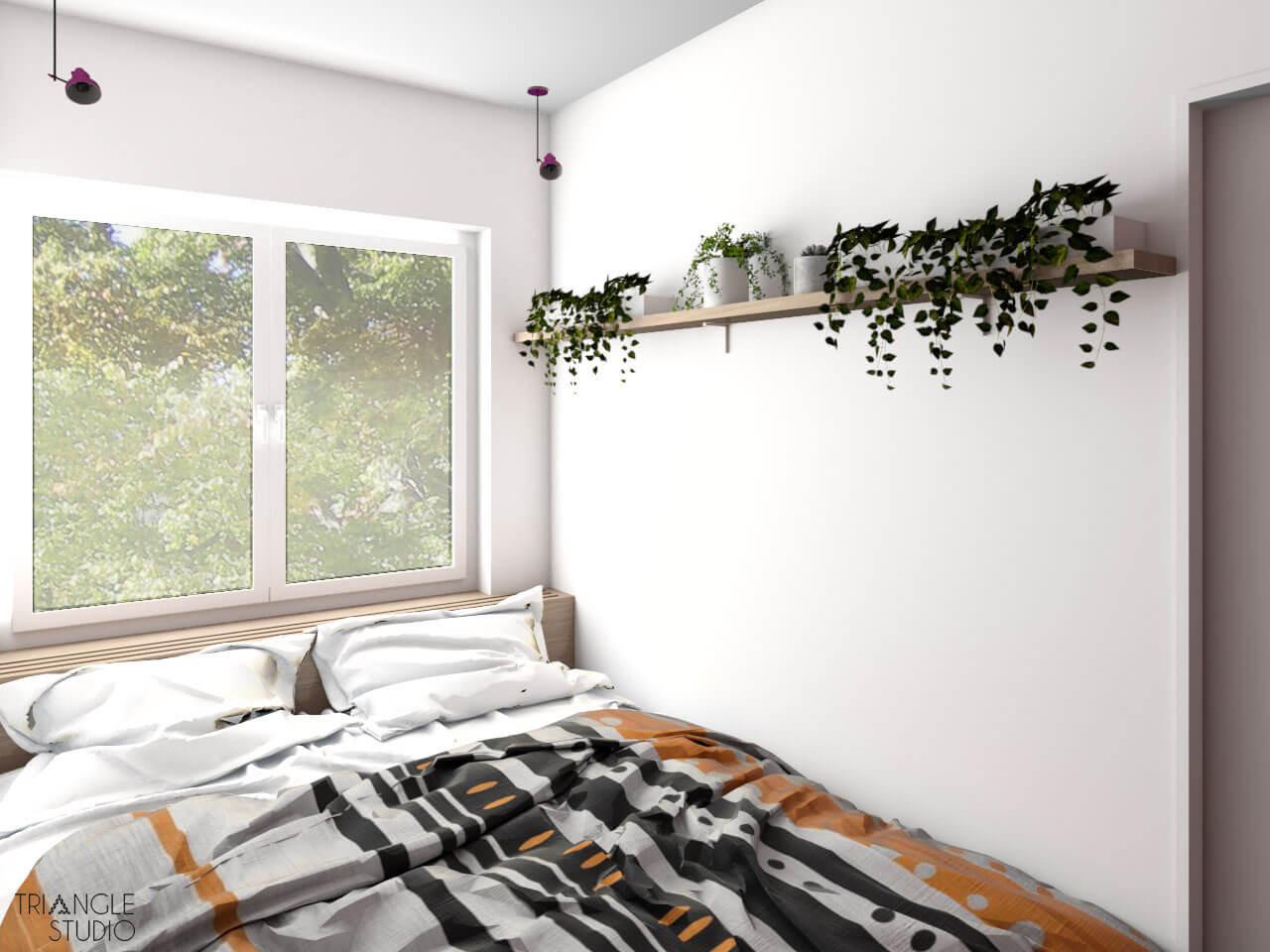 Niewielkie mieszkanie nowoczesno - skandynawskie.