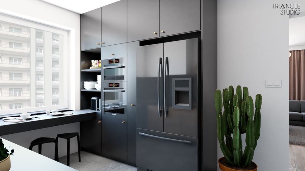 Mieszkanie mid centrury modern.