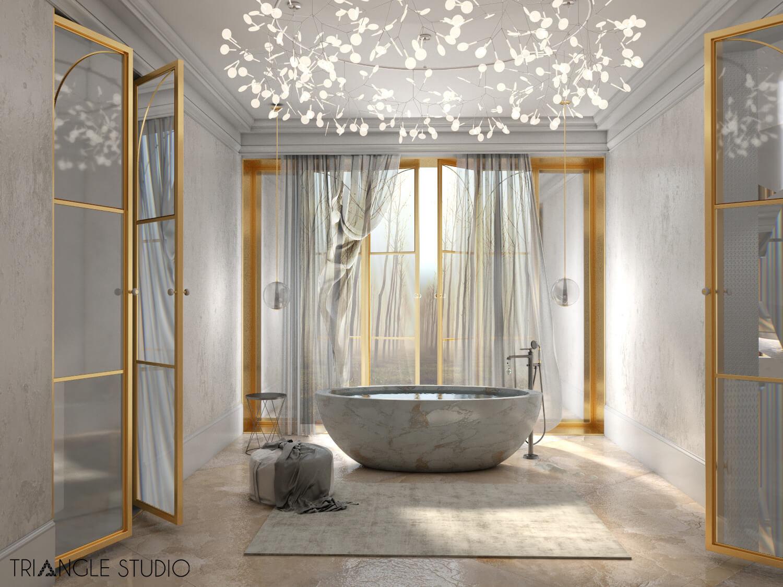 Inspiracja - Ciepły elegancki pokój kąpielowy -3