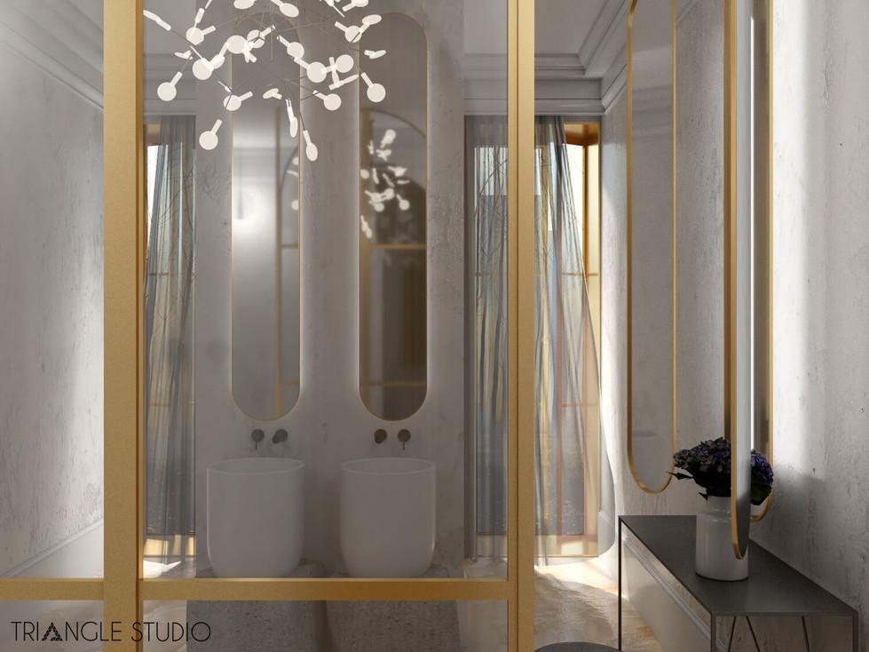 Inspiracja - Ciepły elegancki pokój kąpielowy - 4