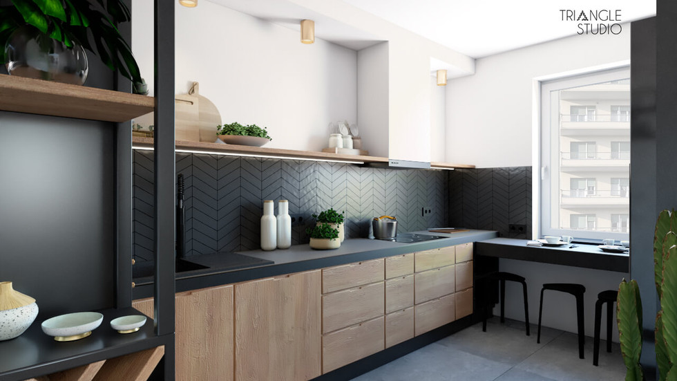 Mieszkanie w wydaniu mid century modern