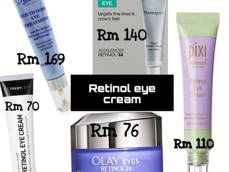 Rawatan untuk dark circle dan eyebag menggunakan eye cream.