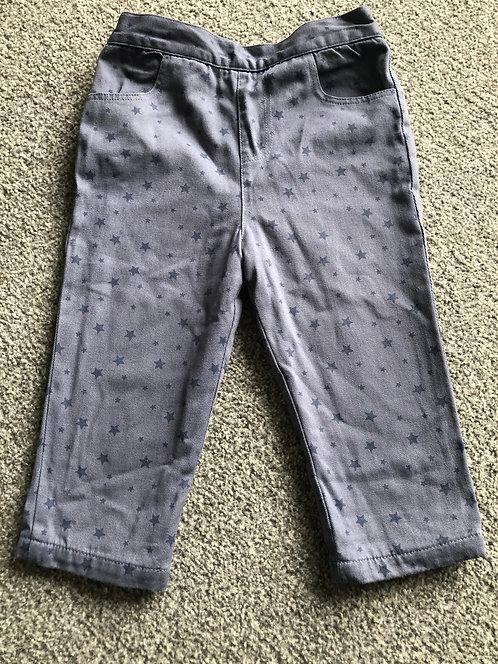 LWC blue star trousers 12-18m