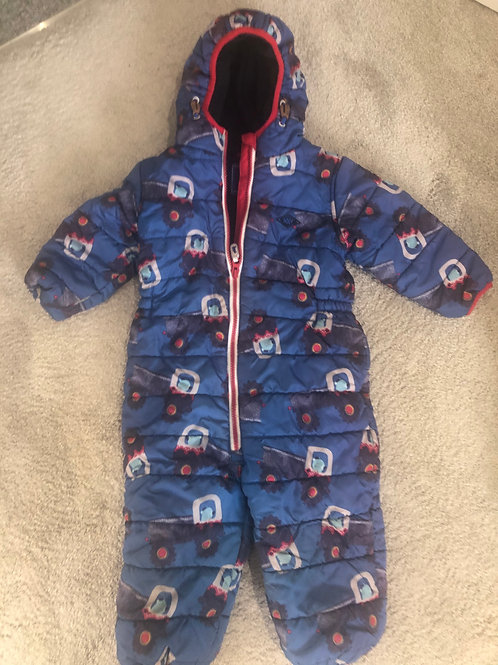 NEXT fleece lined puddle/ pramsuit 18-24mths