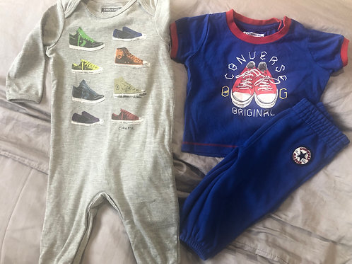 2x converse suits 3-6mth