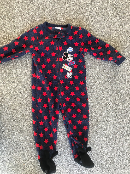 Disney Mickey fleece all in one 12-18mth