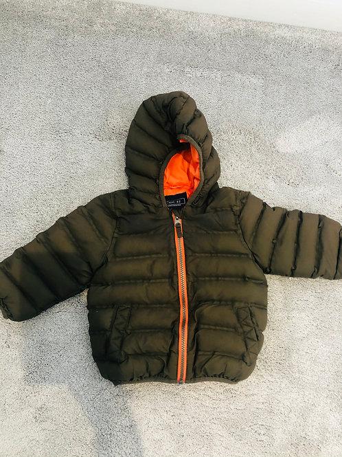 NEXT 12-18m khaki puffa jacket
