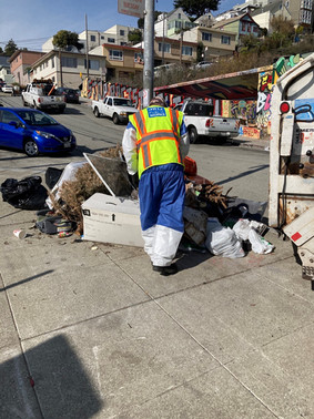 Illegal dumping mess at Tompkins & Peralta. (before)