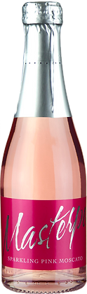 Pack of 12 Masterpeace Sparkling Pink Moscato 200ml Piccolo