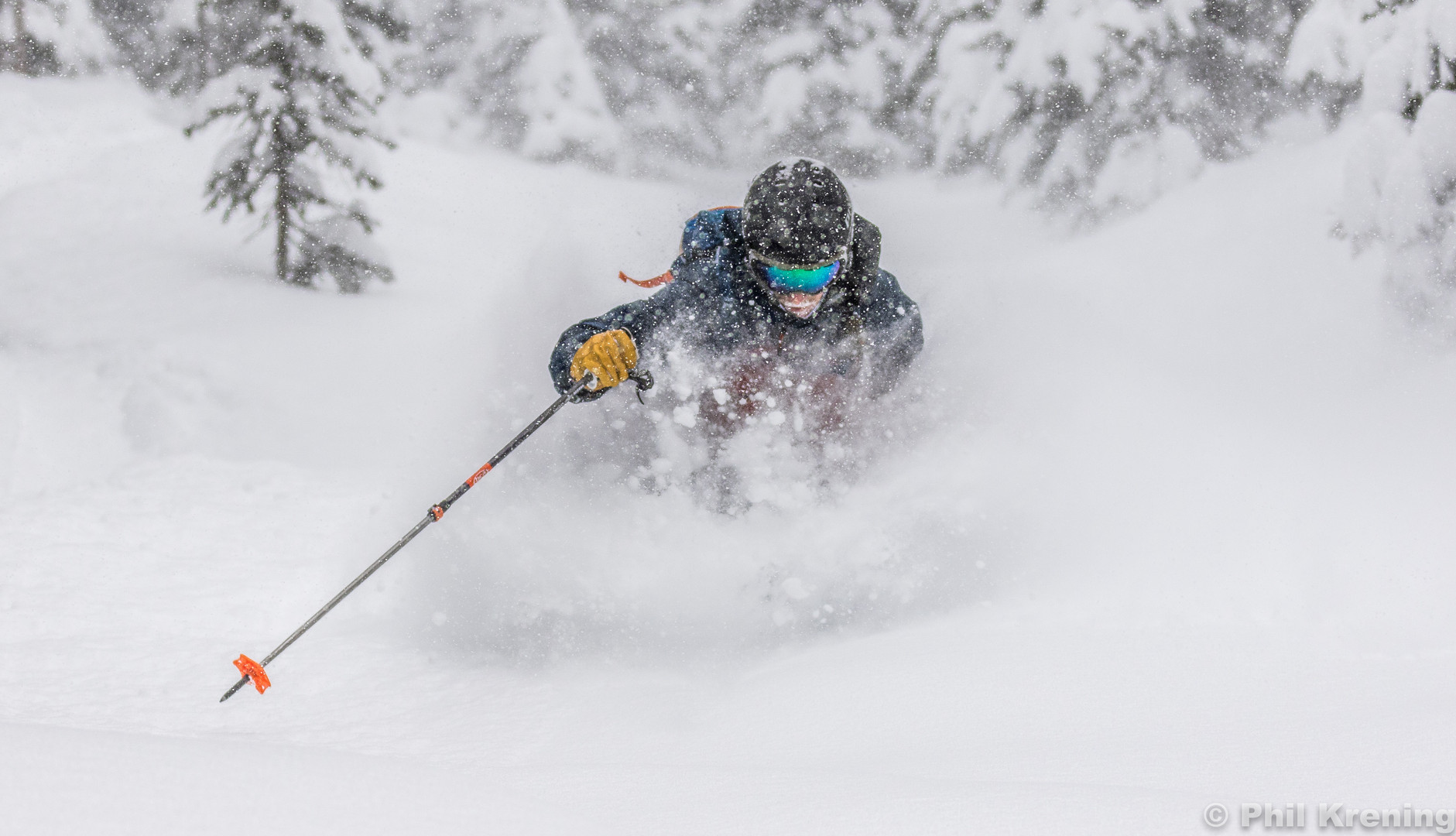 Donny in the powder cache