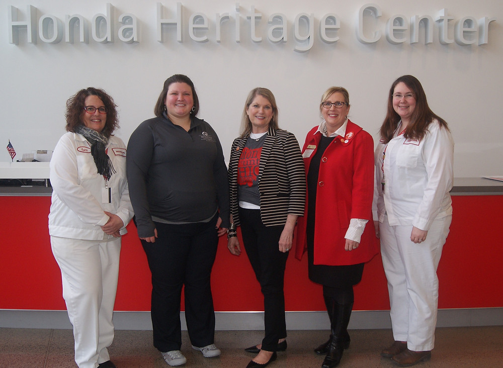OhioTourism Director, Mary Cusick visits the Honda Heritage Center