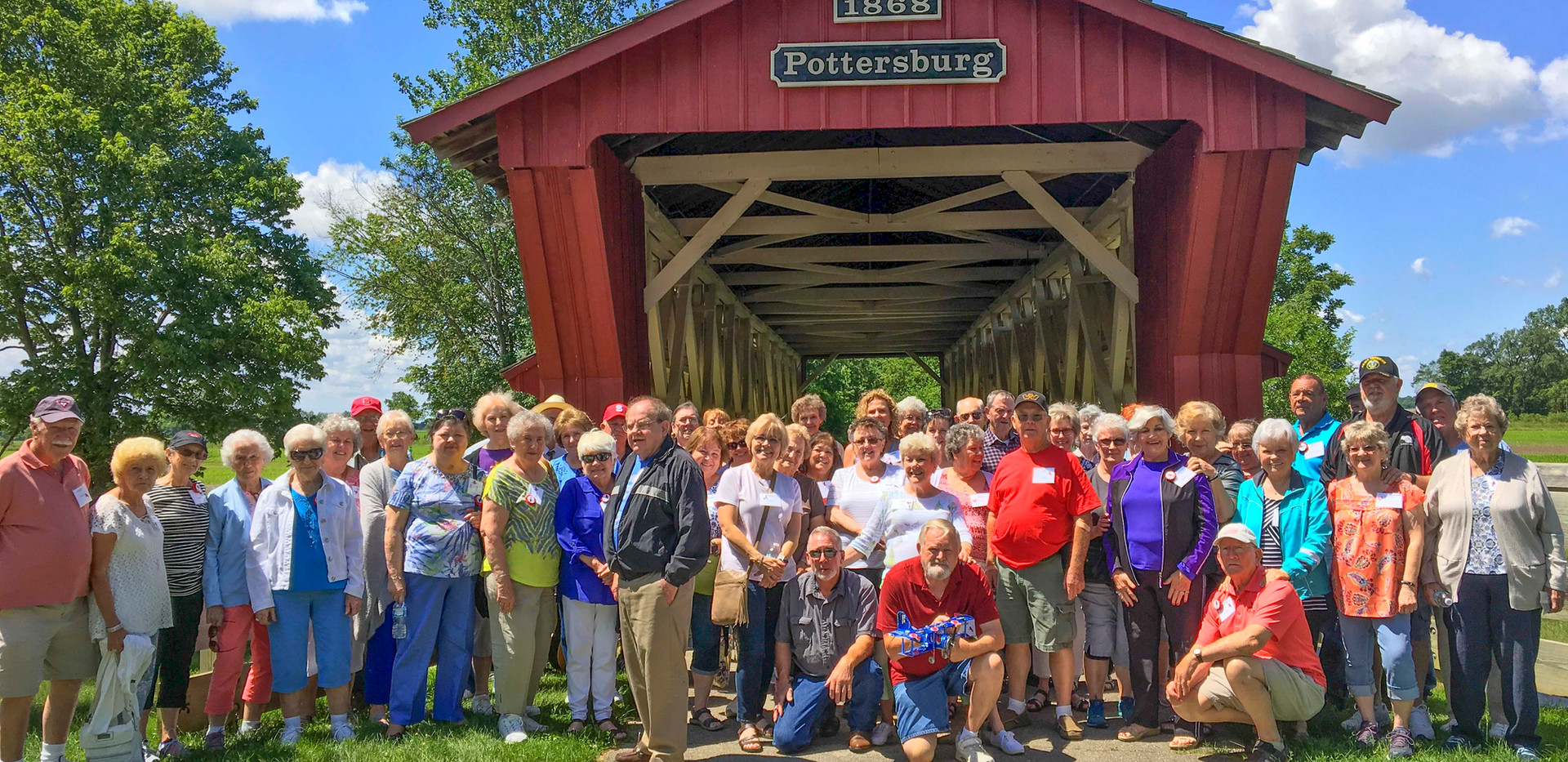 Dine on a covered bridge