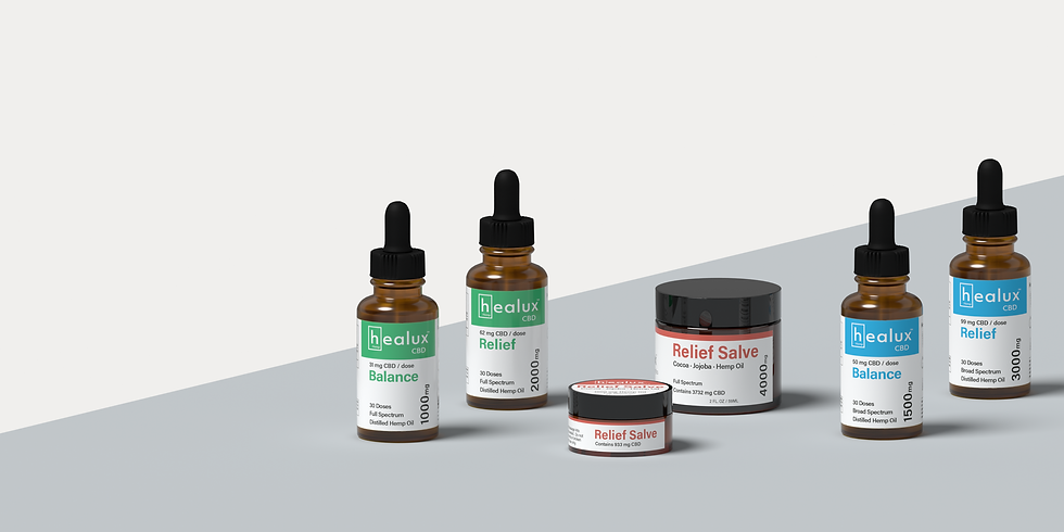 CBD Tinctures and Salve