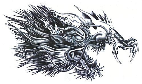 Dragon Chest Tattoo ***(190x320mm)***