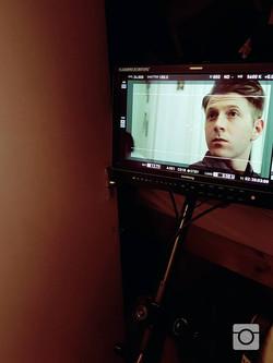 Mark Matthews on the set of 'Cain'
