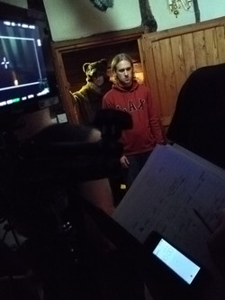 Liam Joseph on the set of 'The Bear'