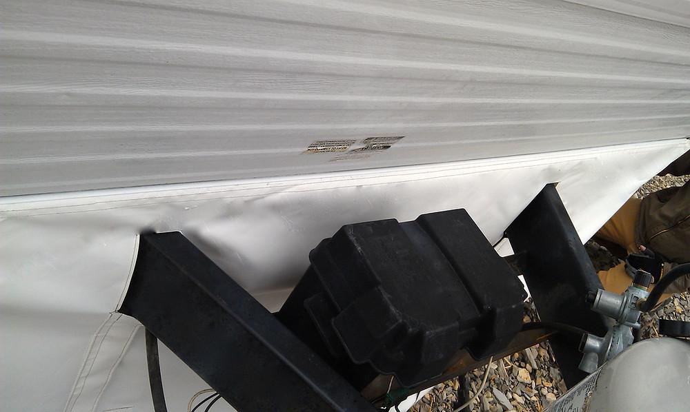 Bumper pull Skirting