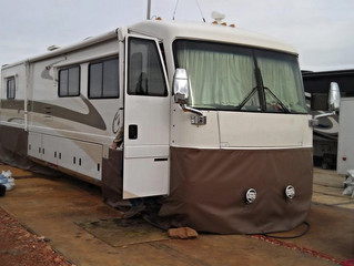 Class A Motorhome on a Great Pad