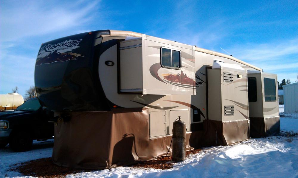Custom Skirted Rushmore Camper