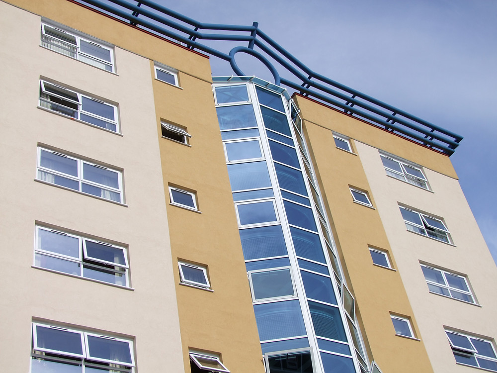 High Rise block of flats at Upavon Court, Penhill Swindon