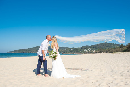 Just Married on Noosa Beach