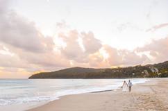 Bride and Groom on Noosa Beach