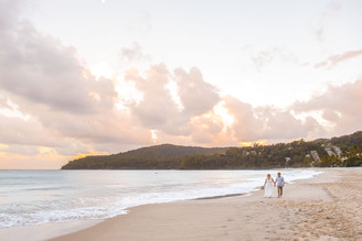 Bride and Groom on Noosa Beach