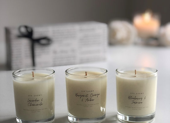 The Ivy Light Mini Candle Trio