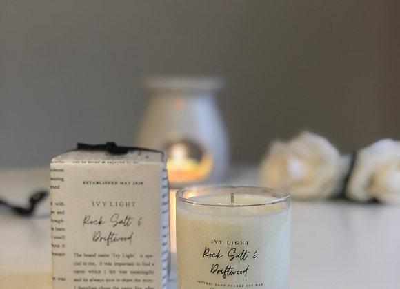 Ivy Light Candle in Rock Salt & Driftwood