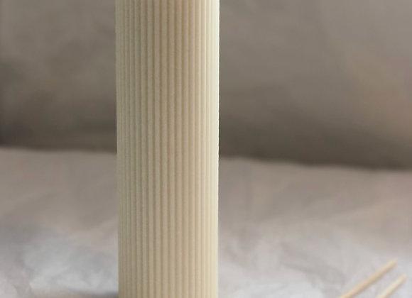 Ivy Light Tall Ribbed Pillar