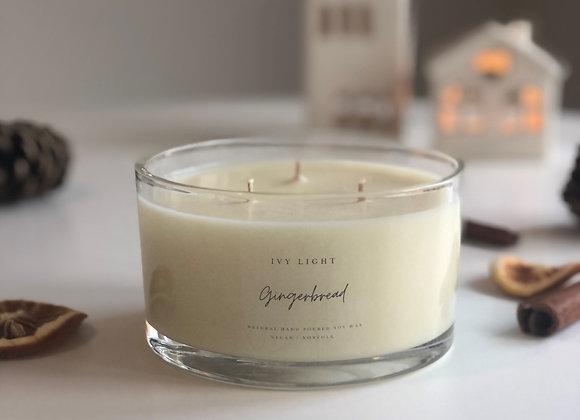 Ivy Light 3 Wick Candle in Gingerbread