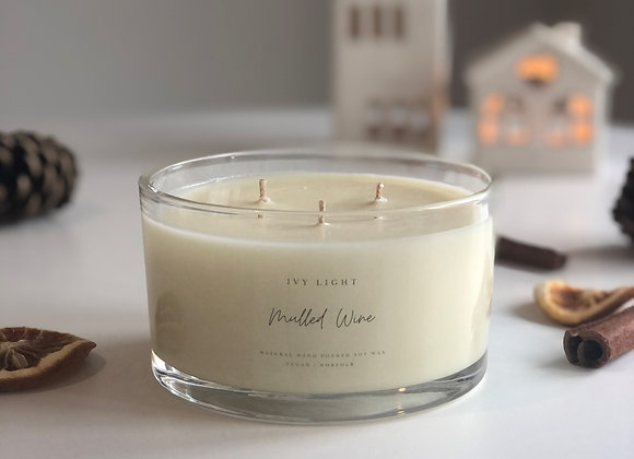 Ivy Light 3 Wick Candle in Mulled Wine