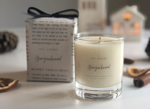 Ivy Light Candle in Gingerbread