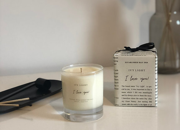 Ivy Light 'I Love You' Candle