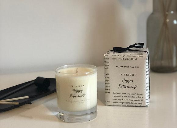 Ivy Light 'Happy Retirement' Candle