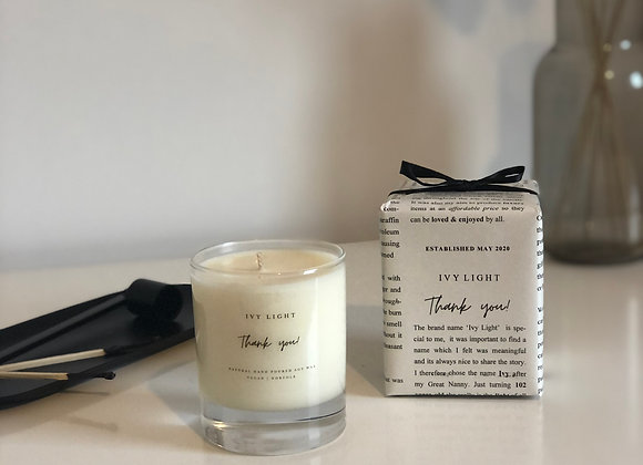 Ivy Light 'Thank you' Candle