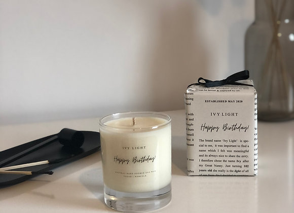 Ivy Light 'Happy Birthday' Candle