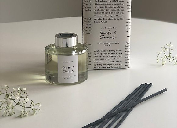 Ivy Light Luxury Reed Diffuser Lavender & Chamomile