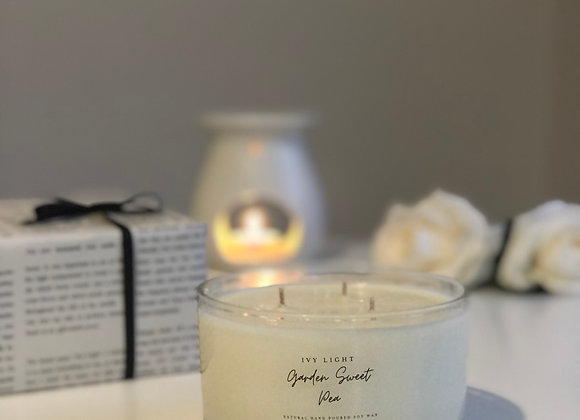 Ivy Light 3 Wick Candle in Garden Sweet Pea