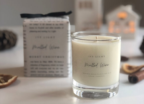 Ivy Light Candle in Mulled Wine