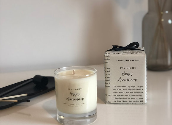 Ivy Light 'Happy Anniversary' Candle