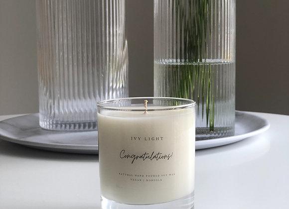 Ivy Light 'Congratulations' Candle