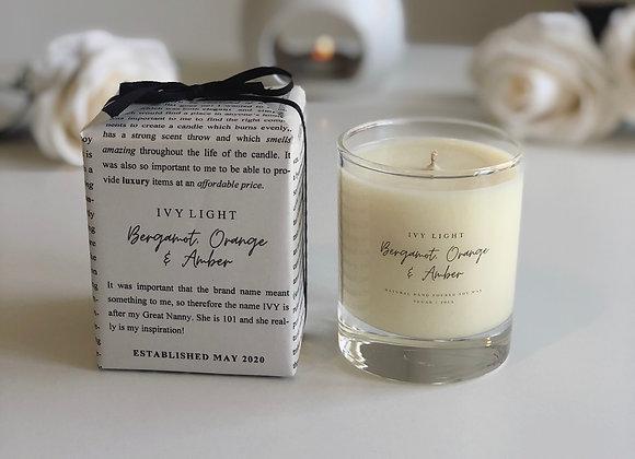 Ivy Light Candle in Bergamot, Orange and Amber