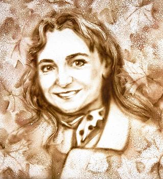 Olga Aleksandrova-portrait dessin sur sa