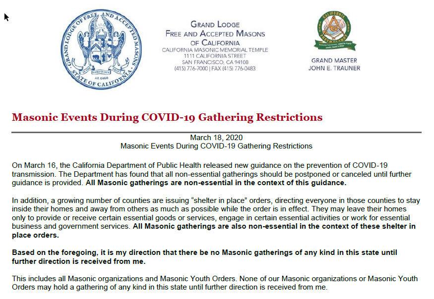Masonic Events During COVID-9 03182020.j